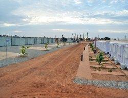 Szenegál befejezett moduláris menedzsment kabinok telepítése