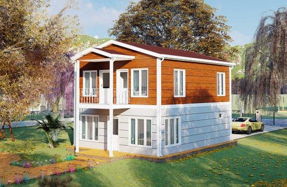126 m2 Montažna vila