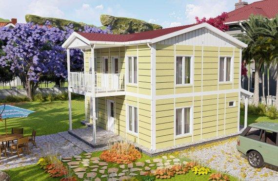 128 m2 Montažna vila