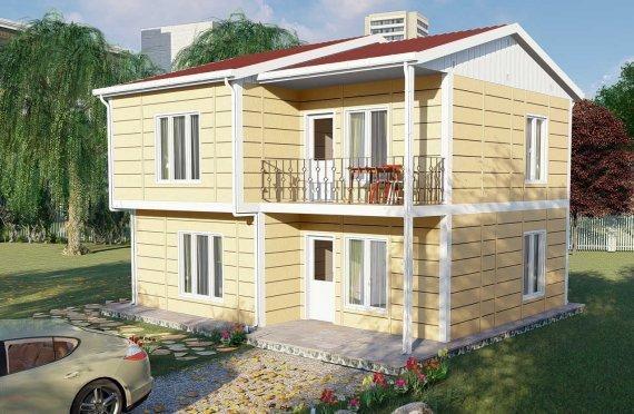137 m2 Montažna vila