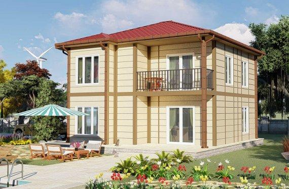 138 m2 Montažna vila