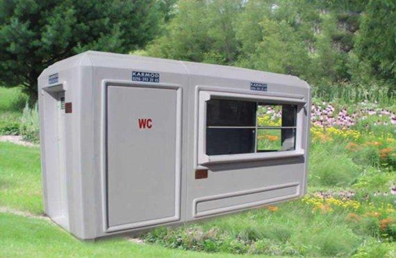 150x390 Hordozható WC & Biztonsági Kabin