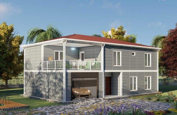206 m2 Montažna vila