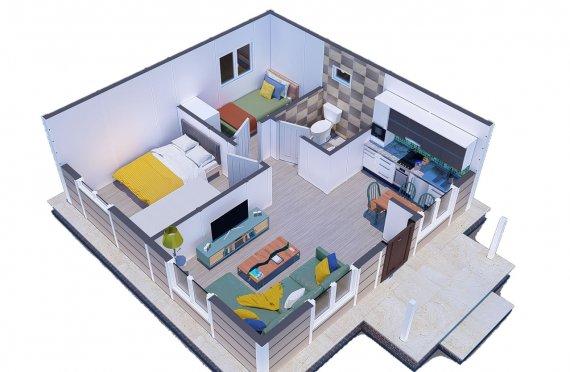 45 m2 Egyszintes panelház