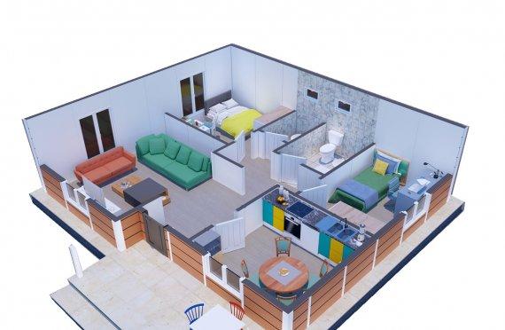 75 m2 Egyszintes panelház
