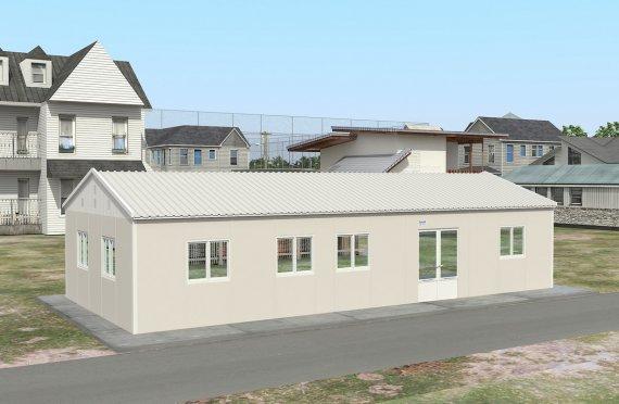 Előregyártott Kereskedelmi Konyha 98 m²