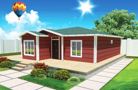 Előregyártott Ház-73-m2