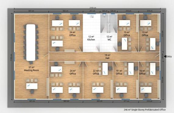 Moduláris irodaház 246 m²