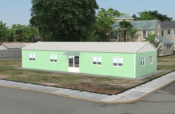 Moduláris irodaház 106 m²