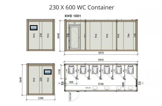 KW6-230x600Wc Konteiner