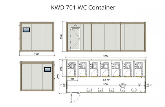 KWD701Wc  Konténer