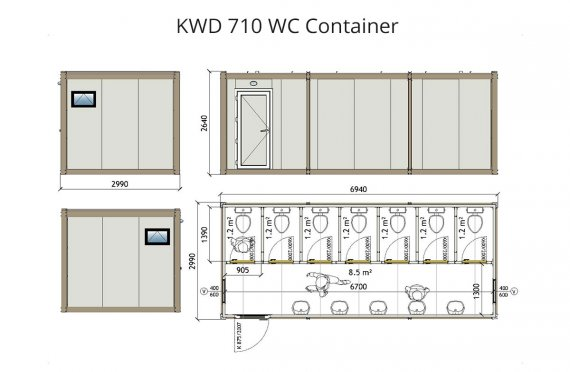 KWD 710 Wc Konténer