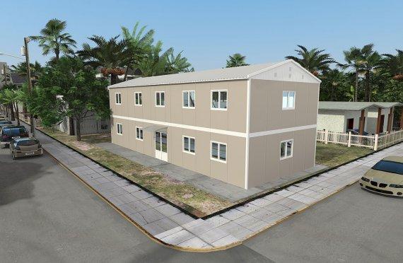 Moduláris irodaház 214m²