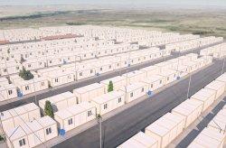 Konténer város menekült Munkás Munkaterületek