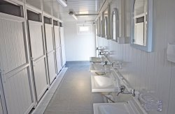 WC/Zuhany Konténer